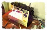 La bande de tissu est alors prête à être cousue à la machine (il convient de trouver le bon réglage pour chaque tissu)…