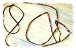 Pour un cordon plein et galbé, on passe une cordelette ajustée (ou lacet) à l'intérieur avec une épingle …