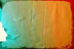 Après une 20aine de passages, on obtient une plaque avec un dégradé de couleurs…