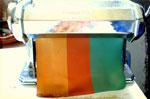 Une fois les mélanges de couleurs obtenus, on peut créer des dégradés, là encore, la machine à pâte n'est pas superflue...