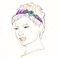 headband facon bandeau sur cheveux courts