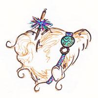 headband facon bandeau sur cheveux attachés