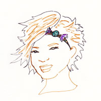 headband facon charleston sur cheveux courts