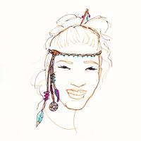 headband facon diademe sur cheveux attachés