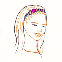 headband facon serre tete sur cheveux lachés