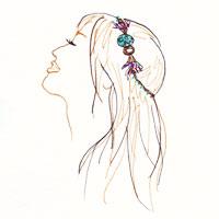 headband facon couronne sur cheveux longs lachés