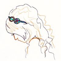 headband facon bandeau sur cheveux lachés