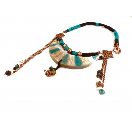 "Collier asymétrique 3 rangs ""Mandalay"""