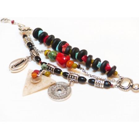 """Bracelet """"Kuzola"""" noir"""
