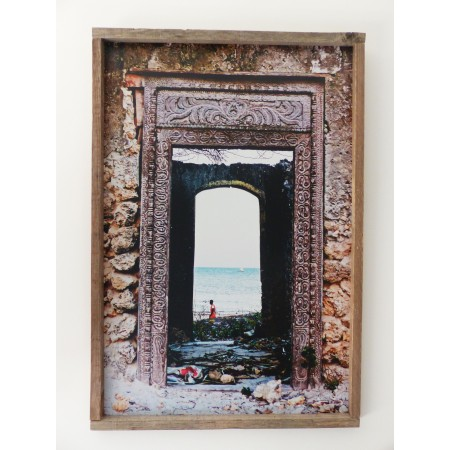 """Photo sur aluminium """"Porte sur Kibigija"""" 50x70"""
