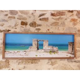 """Photo sur aluminium """"Porte sur Jambiani"""" 30x90"""