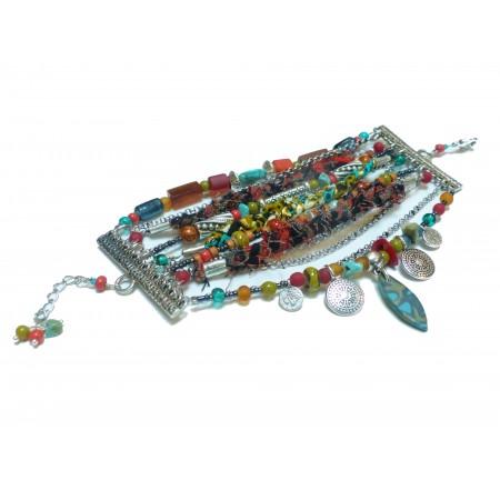 Bracelet multirangs Kuzola
